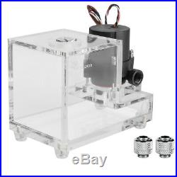 10W 600L/H DC 12V Pump + 600ml Water Tank Kit For PC CPU Liquid Cooling System
