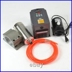 110V 1.5KW CNC Water Cooled Spindle Motor and Inverter kit+Clamp+Water Pump+Pipe
