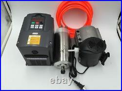 110V Spindle Motor 1.5KW Kit Water-cooled ER11 +1.5KW VFD Inverter+Bracket+Pump