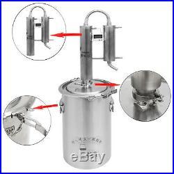 12L-35L New Stainless Moonshine Still Water Distiller Vodka Wine Making Brew Kit