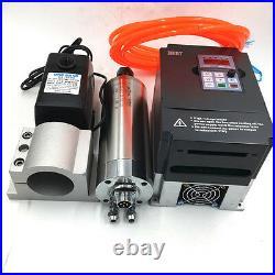 1.5KW Spindle Motor 3Bearing ER11 Water-Cooled & VFD Inverter Bracket CNC Kit