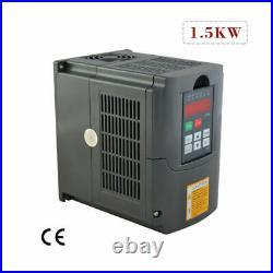 1.5KW Water Cooled Spindle Motor+Inverter ER16 220V 24000 RPM CNC Kit