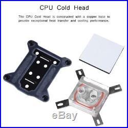 275mm PC Liquid Water Cooling Kit Radiator CPU Block +2 Fan Pump Reservoir Tube