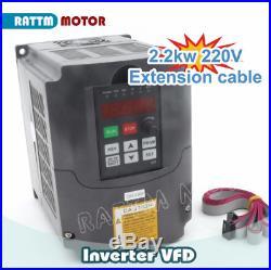 2.2KW ER20 Water Cooled Spindle Motor Engraving Grind 220V+Inverter CNC KitITA