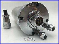 2.2KW ER20 Water-cooled Spindle Motor 4 Bearings 24000rpm VFD Inverter Driver
