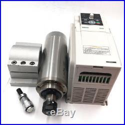 2.2KW Water Cooled ER20 Spindle Motor 220V & 3.7KW VFD Inverter Bracket Pump Kit