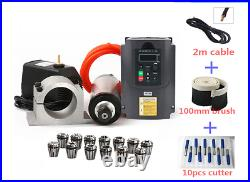 2.2kw Spindle Water Cooled Er20 Milling Motor 80 Clamp Water Pump Cnc Router Kit