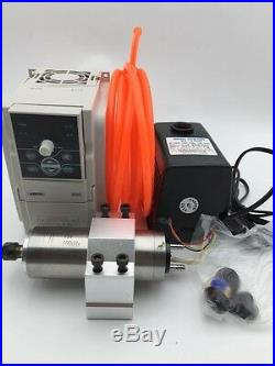 300W ER8 Spindle Motor Water Cooled 60000rpm&1.5KW VFD Inverter&Bracket&Pump Kit