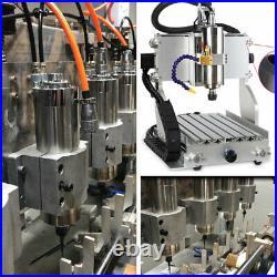 300W Spindle Motor ER8 Water Cooled 60000rpm&1.5KW VFD Inverter&Bracket&Pump Kit