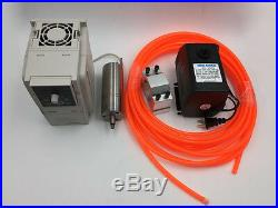 300W Spindle Motor Water-cooled 60000rpm &1.5KW VFD&Bracket&Pump/Pipe CNC Kit