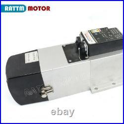 380V BT30 ER25 ATC 4.5KW Water Cooling Spindle Motor VFD &5.5KW inverter CNC kit