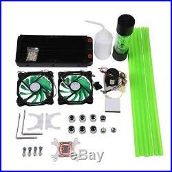 All-in-One CPU Kühler Kit Wasserkühlung Set 2 LED Lüfter 240mm Kühlkörper