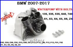 BMW E60 E61 E71 E82 E88 E90 F01 F02 F10 335i 535i WATER PUMP WithBOLTS KIT GENUINE
