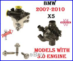 BMW E70 X5 3.0si 30i Electric Water Pump Assembly With Thermostat & Bolts kit