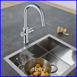 Blue Home C-Spout Filter Tap, Cool & Sparkling Water Kit in Chrome GROHE