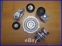 Bmw E46 E39 Water Pump FAN Clutch Belt Tensioner with Pulley Kit Set new