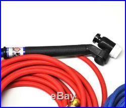 CK FL250 Water Cooled TIG Torch Kit, Flex-Loc, 250A, 25', 3-Pc, Super-Flex