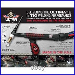 CK UltraTIG FL230 Water Cooled TIG Torch Kit Flex-Loc 230A Super-Flex USFL2312SF