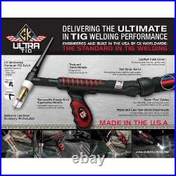 CK UltraTIG FL250 Water Cooled TIG Torch Kit Flex-Loc 250A Super-Flex USFL2512SF