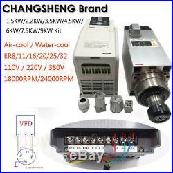 CNC Spindle Motor 300With800With1.5KWith2.2KWith3KWith4.5KWith6KWith7.5KW VFD Inverter Kit