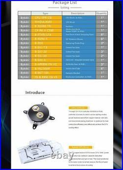 CPU GPU Hard Tube Water Cooling Split Kit Raditor Advanced Program Kits 5V