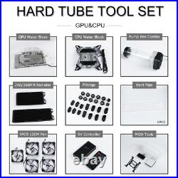 Cheaper Computer Watercooling Build Hose, Hard Tube Kit With Pump, Fittings, Copper