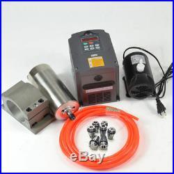Cnc 1.5kw Er11 110v Water Cooled Spindle Motor+inverter+clamp+pump+pipe Kit