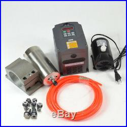 Cnc Spindle Kit 1.5kw 110v Water Cooled Spindle Motor+inverter+clamp+pump+pipe