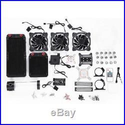 Computer Kühlkörper PC Wasserkühlung Kit Teile Flüssig Kühler LED Set RG-374