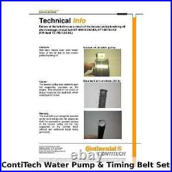 ContiTech Water Pump & Timing Belt Kit (Engine, Cooling)- CT1028WP4 -OE Quality