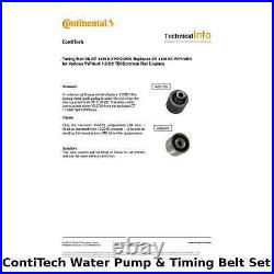 ContiTech Water Pump & Timing Belt Kit (Engine, Cooling)- CT1139WP6 -OE Quality