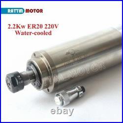 DE CNC Mill Kit 2.2KW 220V ER20 Water Cooling Spindle Motor+2.2KW VFD Inverter