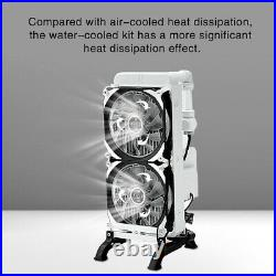 DIY Computer Liquid Water Cooling Kit Pump Reservoir Hard Tube 275mm CPU Cooler