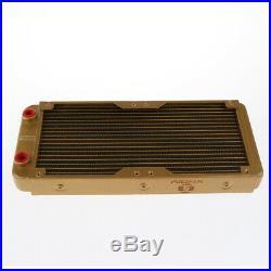 DIY Computer Water Cooling Kit 240mm Radiator Pump Reservoir Color CPU Tube