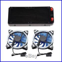 DIY PC Water Cooling Kit Heatsink Radiator Pump Reservoir CPU Block Tube LED Fan