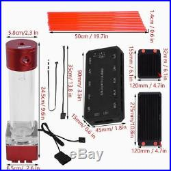 DIY Water Cooling kit Radiator Heatsink CPU GPU Block Pump Reservoir Tube Fan CO