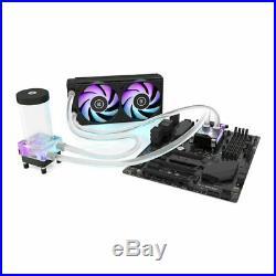 EK-Classic P240 D-RGB Liquid Cooling Kit, CPU Water Block, Radiator, 2x Fans, Pu