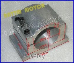 ER16 1.5KW Water-cooled Spindle Motor+VFD Drive 220V+80mm Bracket CNC Router Kit