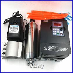ER20 Spindle Motor 2.2KW Water-cooling+2.2KW VFD Inverter+Bracket+Pump CNC Kit