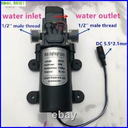 Electric Water Pump 12V Diaphragm Low Pressure Spray Dust Removal Misting Kits