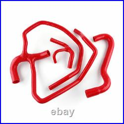 Fiat Cinquecento 500 Sporting 1.1L Silicone Radiator Cooling Water Hose Kit Red