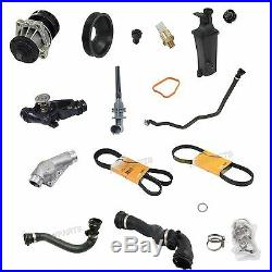 For BMW E46 328i 2.8L Cooling System Kit Water Pump Thermostat Belts Water Pump