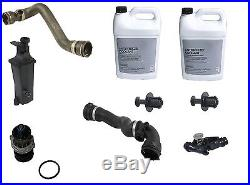 For BMW E46 Water Pump Thermostat Recovery Tank Hoses Cooling Overhaul Kit
