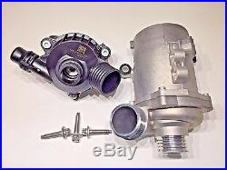 Genuine Engine Cooling Electric Water Pump & Bolt kit & Thermostat KIT For BMW