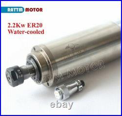 Ger2.2KW 220V Wassergekühlte Spindel Fräsmotor VFD Pumpe ER20 Collets CNC Kit