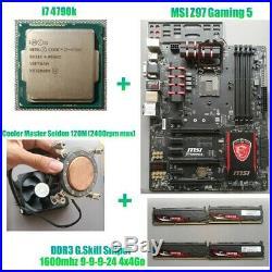 Kit MSI Z97 Gaming 5 + i7 4790k + 4x4Go G. Skill Sniper 1600mhz + watercooling