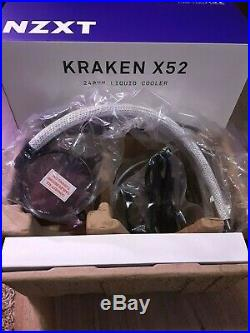 NZXT Kraken X52 240mm AIO Liquid Cooler + CableMod Custom AIO Sleeving Kit