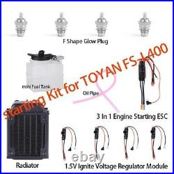 New Starter Kit For TOYAN FS-L400 14cc L4 Four-stroke Water-cooled Nitro Engine