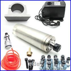 Nue 2,2KW ER20 WASSERGEKÜHLTE SPINDEL FRÄSMOTOR Für CNC VFD+Wasser Pumpa kit DHL