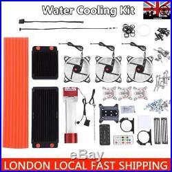 PC CPU Liquid Water Cooling Complete Kit 275mm Radiator CPU GPU Block Reservoir